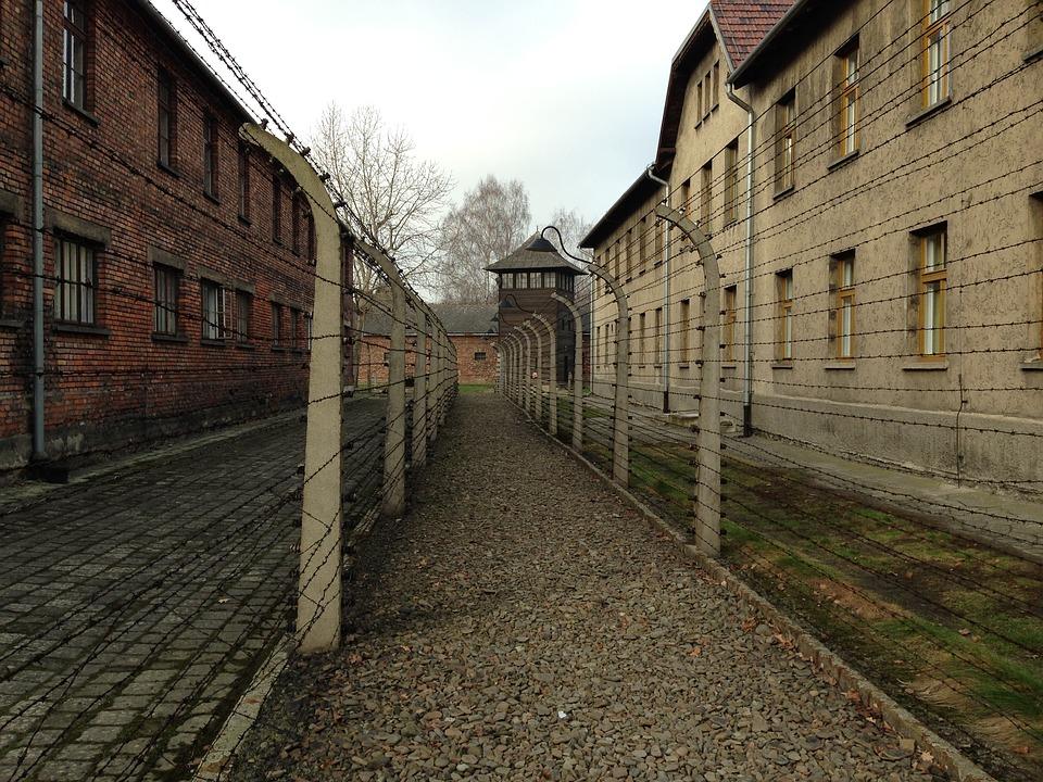 Les casernes du camp de concentration Auschwitz I